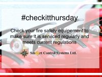 #checkitthursday – Smart Control Systems Fire Safety Campaign